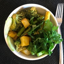 Squash, Potatoes, Broccoli, Asparagus, Raw Kale,